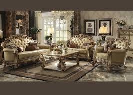2 pcs gold patina finish vendome sofa set 53000 traditional