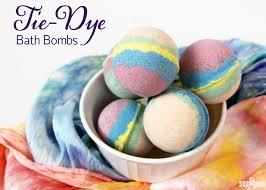 tie dye bath bombs soap