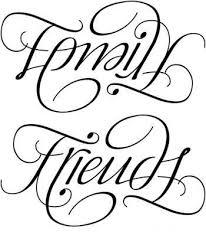 tattoos family ambigram arm 11 family