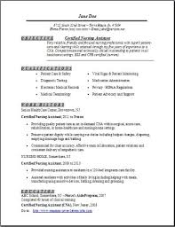 Resume Of Nursing Assistant Certified Nursing Assistant Resume Examples Samples Free Edit With