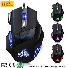 oem laser logo wired usb optical 7d gaming mouse flashing