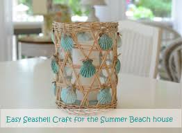 Beach Themed Home Decor Beach House Decor Seashell Craft For Nautical Beach House