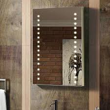 Illuminated Bathroom Wall Mirror - modern bathroom wall mirror led illuminated rect back lit mirror