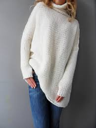 Sweater With Thumb Holes Oversized Slouchy Loose Knit Sweater Chunky Knit Women