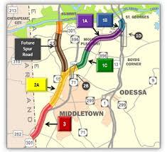 delaware road map usa us 301 us department of transportation