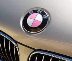 breast cancer awareness gloss pink vinyl bmw emblem