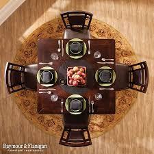 round rug under round table roselawnlutheran