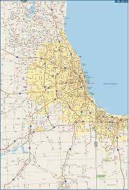 Chicago Il Map Chicago Metro Map Digital Vector Creative Force