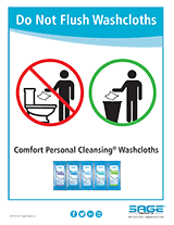 Comfort Personal Cleansing Shampoo Cap Do Not Flush Washcloths Poster Png