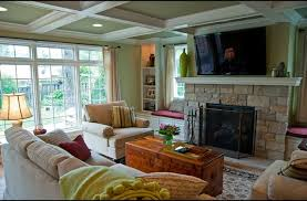 Family Room Addition With A Fireplace And Nd Floor Space - Family room additions pictures