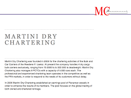 martini dry martini dry chartering systemantics