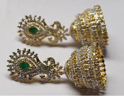 new jhumka earrings excellent emerald jhumka earrings made with silver gleam jewels
