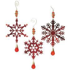 vintage beaded metal snowflake ornaments baubles n bling