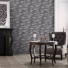 shop elida ceramica dark mountain glazed porcelain mosaic linear