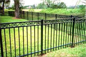 metal fence backyard fence ideas