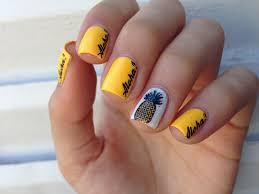 pineapple nail art nail art fruit pinterest pineapple