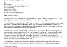 medical office assistant cover letter sample cover letter for
