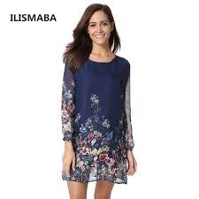 dress pattern brands ilismaba fall the new ms fashion harajuku chiffon long sleeve