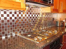Stainless Steel Tiles For Kitchen Backsplash Kitchen Backsplash Glass Mosaictiles In Stainless Steel Tiles A