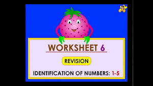 kindergarten learning number worksheets numbers 1 to 5 youtube