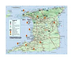 Tobago Map Detailed Tourist Map Of Trinidad With Other Marks Trinidad And
