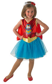 kids hello kitty superhero wonder woman girls fancy dress childs