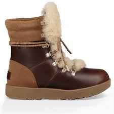 lyst ugg uptown emalie leather wedge boots in black womens winter boots getoutsideshoes com