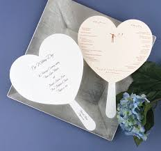 fan shaped wedding programs the style of your heart shaped wedding programs