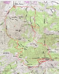 Yosemite Topo Map Mount Diablo Mitchell Canyon To The Peak Bay Area Mountain