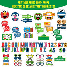 9 sesame street party images photo booths