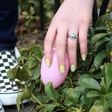 tutorial modern easter nail art by jinsoon