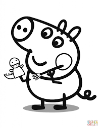 george pig cartoon coloring page cartoon cute peppa pig