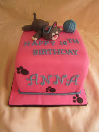 18th birthday kitty cat cake the birthday has a gray male