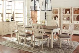 White Wood Dining Room Table by Bolanburg By Ashley Dining Room Collection