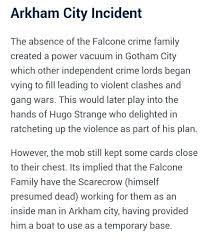 arkham city calendar man halloween falcone family in the arkhamverse comics amino