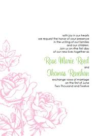 printable wedding invitation kits pink wedding invitations kits