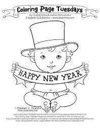 happy new year preschool coloring pages dulemba coloring page tuesday happy new year
