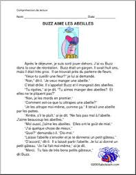 awesome collection of french reading comprehension worksheets