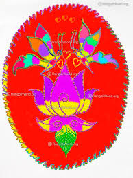 flower rangoli designs collection