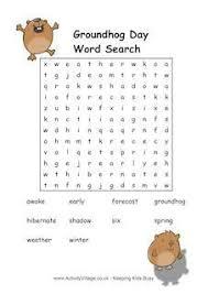 groundhog activities kids