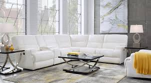 galiano white 6 pc leather power reclining sectional decorating