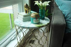 Green Accent Table How To Quickly Update An Ugly Accent Table School Of Decorating
