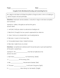 action verbs worksheet circling and converting part 1 intermediate