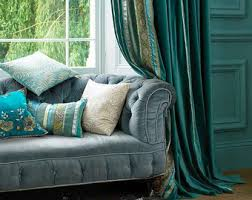 Curtains With Turquoise Teal Curtains Etsy