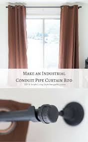 Curtain And Rod Make An Industrial Conduit Pipe Curtain Rod Pipes Cap And Learning