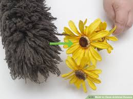 silk sunflowers 3 ways to clean artificial flowers wikihow