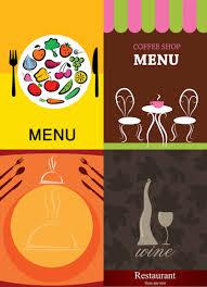 restaurant menu designs vector free stock vector art