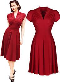 1940s dresses women s vintage style retro 1940s shirtwaist flared evening tea