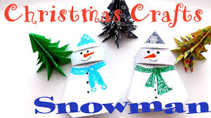 how to make a snowman out of paper christmas crafts youtube