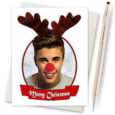 justin bieber christmas card funny from inlivingcolorstudios on